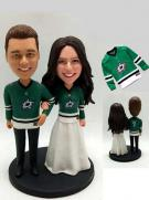 Custom Personalized Wedding Cake Topper Dallas Stars Hockey