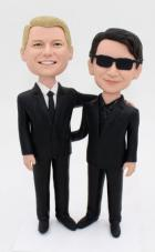 Custom Custom gay wedding cake topper with sunglasses