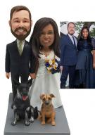 Custom Personalized Cake Topper for Interracial Wedding