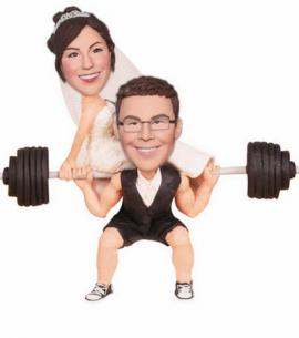 Custom wedding cake toppers Weightlifting
