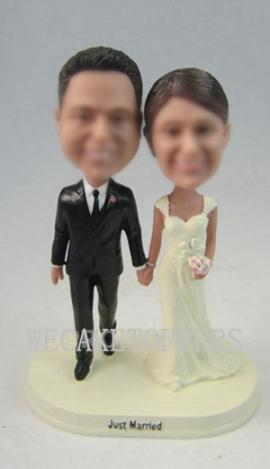 Custom classical wedding cake topper