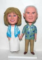Custom Hawaii theme 50th anniversary cake toppers