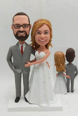 Custom Wedding Cake Toppers Hand on butts