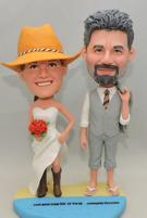 Custom Wedding cake topper cowboy style and beach