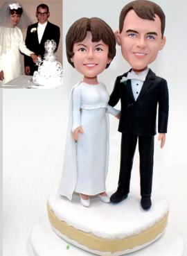 Custom cake topper vintage wedding