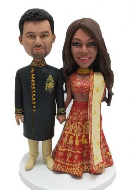Personalized Wedding Cake Topper Indian