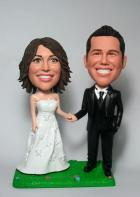 Custom Hand In Hand wedding cake toppers