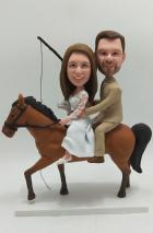 Custom Custom Wedding cake topper on horse