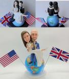 Custom Custom Travel Cake Toppers on globe
