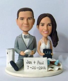 Custom wedding cake toppers playing games