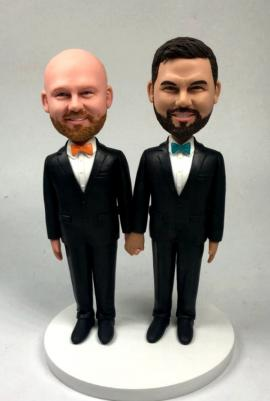 Custom gay wedding cake topper made for you