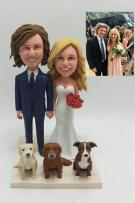 Custom Modern wedding cake topper
