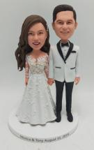 Custom Personalized bride and groom cake topper