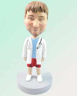 Male Doctor with Stethoscope Cake Toppers