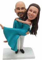Custom Custom Cake Topper for Teal Wedding