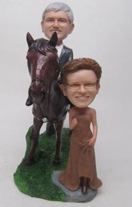 Horse Riding Couple Cake Toppers 2381 198 00 Custom
