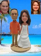Custom Custom Cake Topper for Hawaiian Wedding