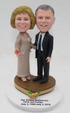 Custom Special Golden Anniversary cake topper figurines