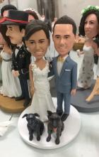 Custom Personalized wedding cake topper look like you