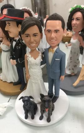 Personalized wedding cake topper look like you