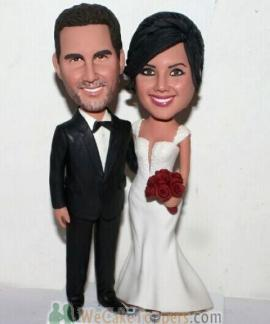 Personalized wedding cake topper Classical