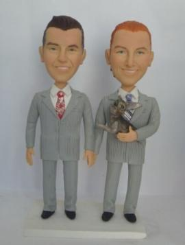 Custom Gay Wedding cake toppers Samesex