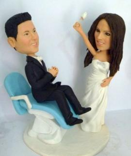 Dentist wedding cake toppers
