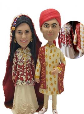 Custom Wedding Cake Topper Indian