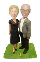 Custom Elegant couple 30th 40th anniversary toppers