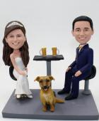 Custom Custom wedding cake topper with beers/champagne