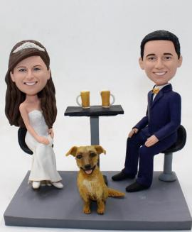 Custom cake topper wedding with beers