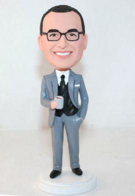 Groomsman custom doll with scotch glass