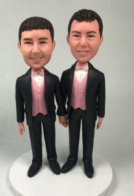 Custom cake topper gay couple