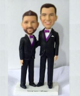 Wedding cake topper made for gay couple