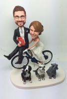 Custom Custom cake topper with bicycle(not include dogs)