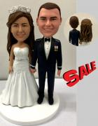 Custom Custom wedding cake topper military groom
