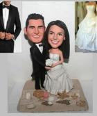 Custom Custom beach theme wedding cake topper