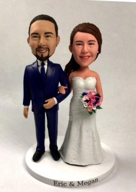 Custom wedding cake topper dollls