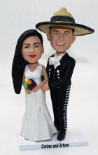 Custom Mexico theme wedding cake topper made to order