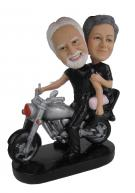 Custom Anniversary Cake Toppers with Harley Davidson