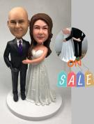 Custom Custom wedding cake topper - grabbing butts