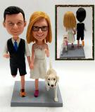 Custom Personalized wedding cake toppers running couple