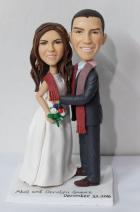 Custom Wedding cake topper with scarf