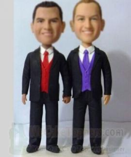 Customized gays wedding cake topper