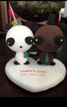 Custom Custom wedding cake topper-Panda