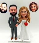 Custom Custom classic wedding cake topper made from photos