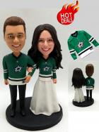 Custom Custom Cake Topper in Dallas Stars Hockey Jersey
