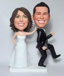 Custom Wedding Cake Toppers Bride Grab Groom
