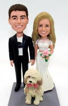 Custom Custom wedding cake topper with dog