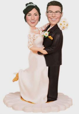 Custom Wedding Cake Topper Vintage Daisy